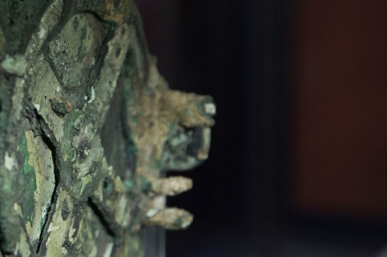A Fragment of the 2,100-year-old Antikythera Mechanism, believed to be the earliest surviving mechanical computing device, is displayed at the National Archaeological Museum, in Athens, Thursday, June 9, 2016. An international team of scientists says a decade's painstaking work on the corroded fragments found in an ancient Greek shipwreck has deciphered roughly 500 words of text that explained the workings of the complex machine, described as the world;s first mechanical computer Greece Ancient Computer, Athens, Greece