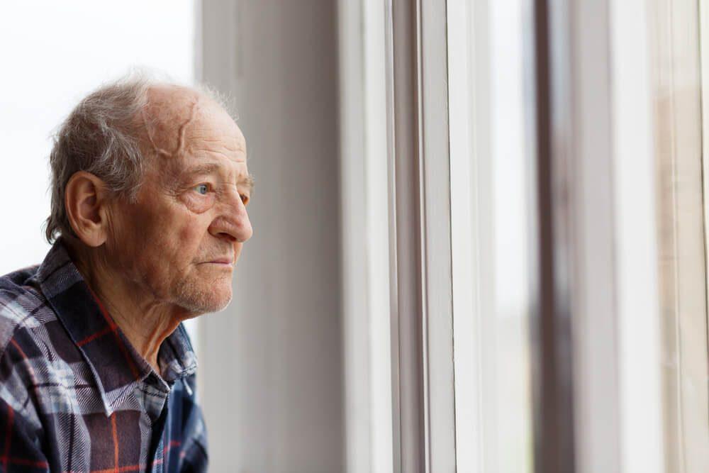 Bald, elderly man