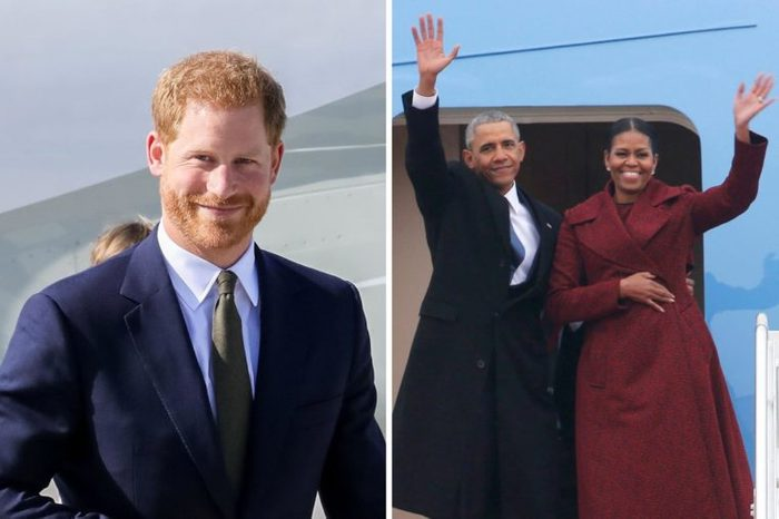 Prince Harry and the Obamas