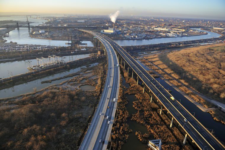 Aerial view of New Jersey Turnpike, New Jersey
