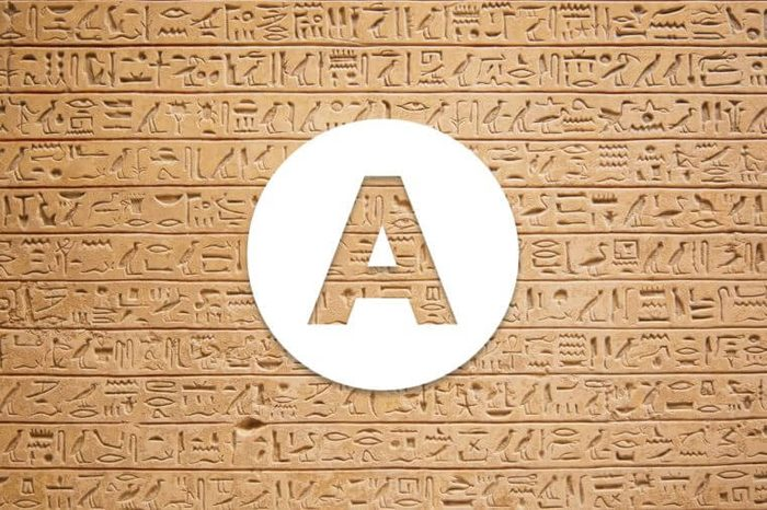 English alphabet letter A