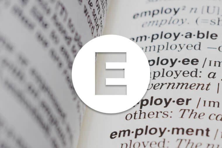 English alphabet letter E