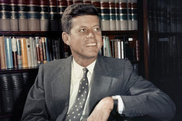 JOHN F. KENNEDY John F. Kennedy (D-Mass.) the Senator from Massachusetts, in his Washington, D.C. office