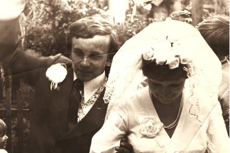 ucraine CIRCA 1950 - Wedding day - Circa 1978
