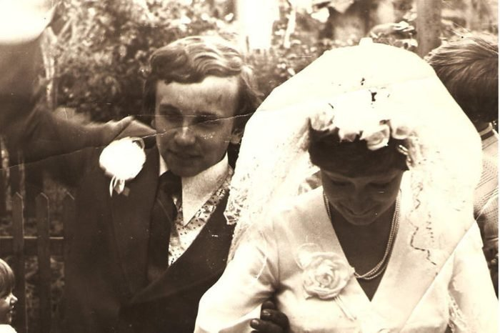 ucraine CIRCA 1950 - Wedding day - Circa 1978