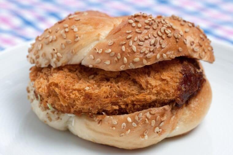 Croquette burger