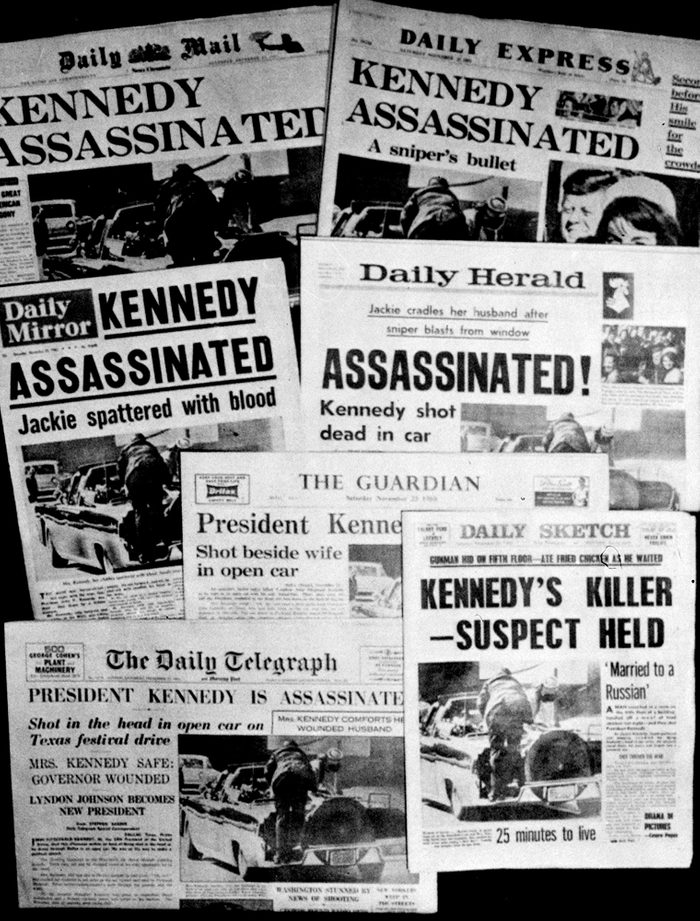 News coverage of JFK assassination