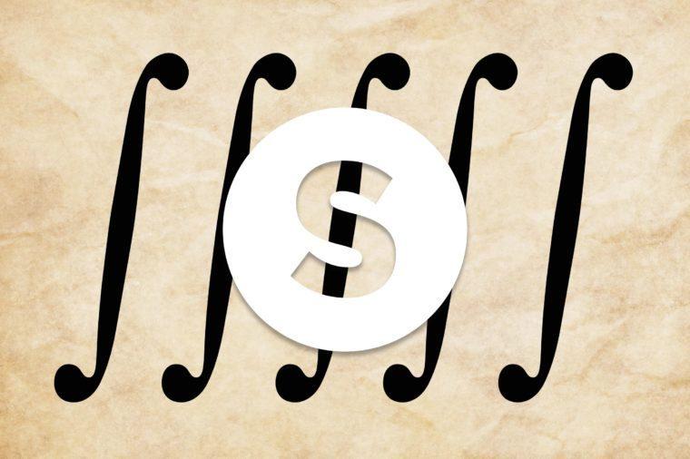 English alphabet letter S
