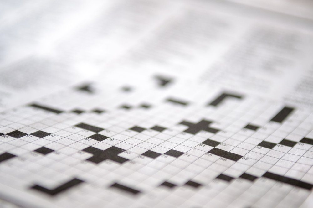 Blank crossword puzzle waiting to be filled in.