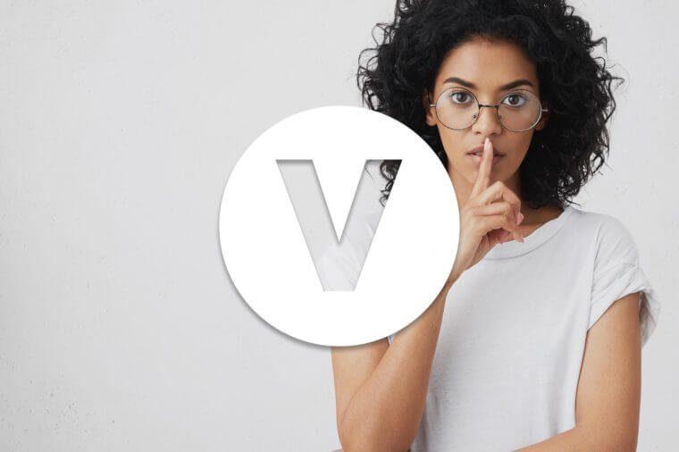 English alphabet letter V