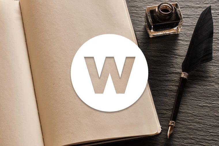 English alphabet letter W