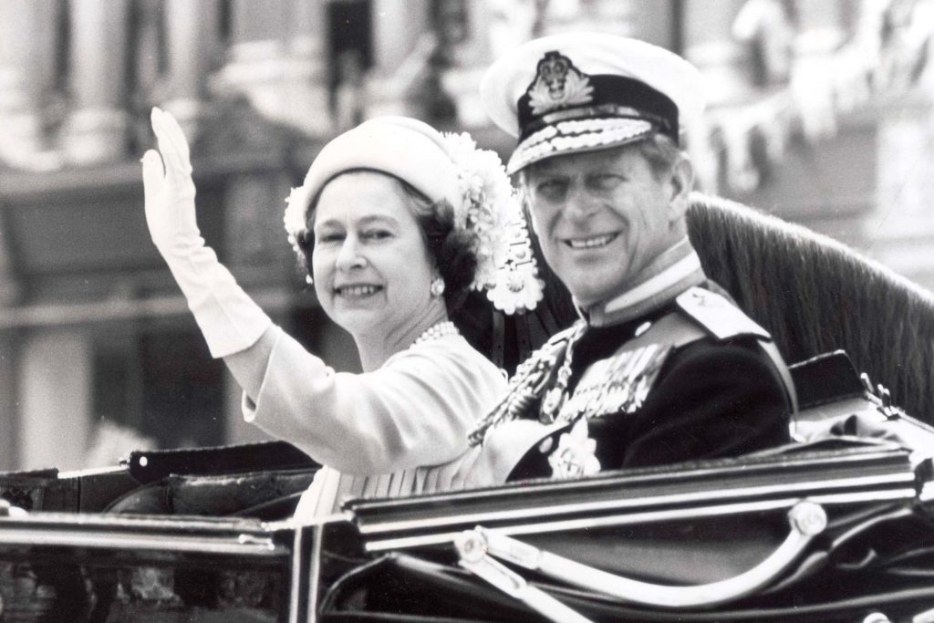 Young Queen Elizabeth II and Prince Philip