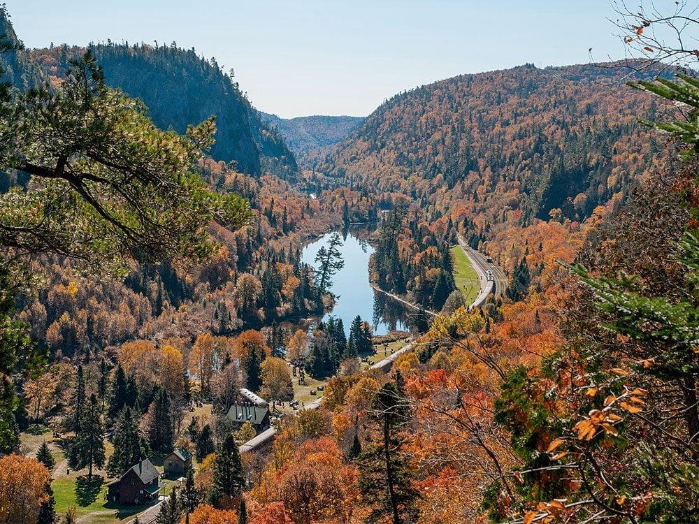 Fall foliage in Agawa Canyon