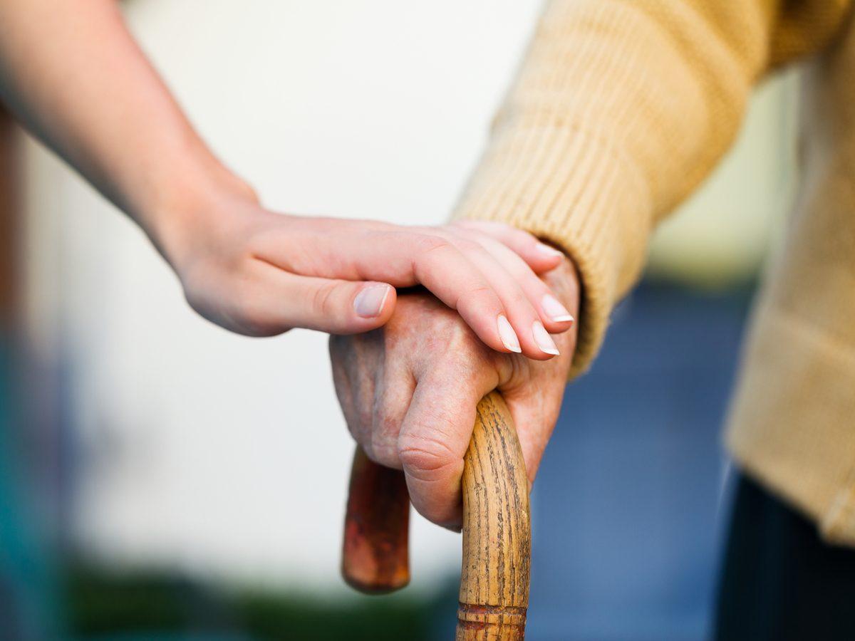 Elderly Alzheimer's patient