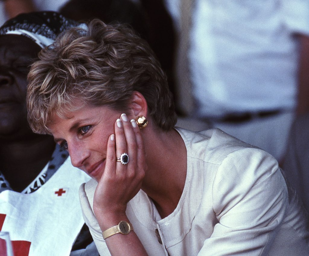 Princess Diana on a royal visit to Zimbabwe in 1993