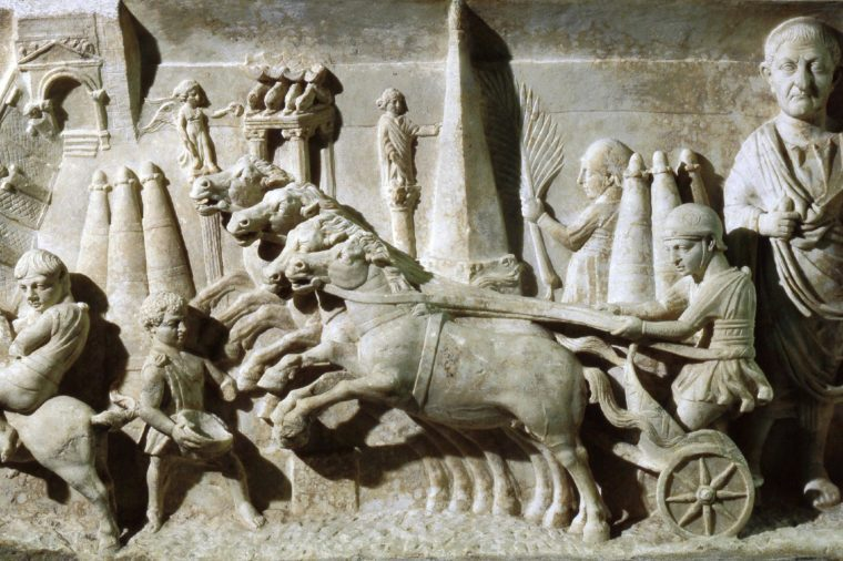 Funerary relief for a magistrate responsible for organising chariot races in the circus. Country of Origin: Italy. Culture: Roman.