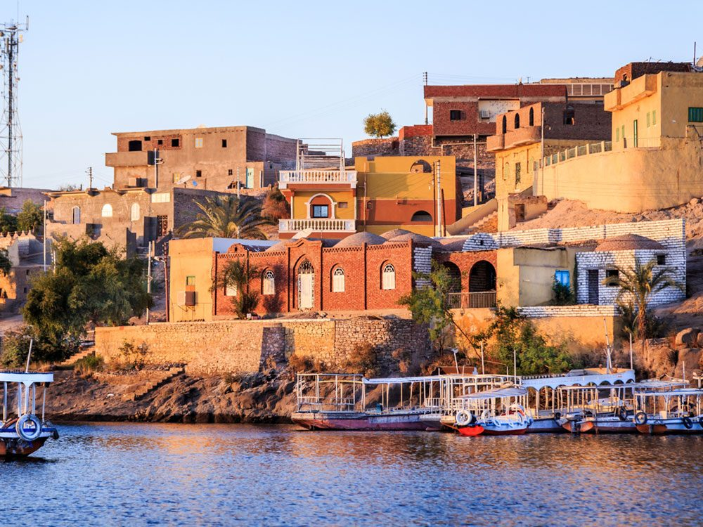 Nile River in Aswan, Egypt, North Africa