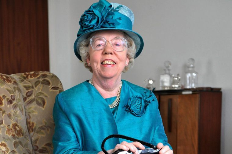 Ella Slack 69 From Ramsey Isle Of Man Who Has Been A Stand-in For The Queen For The Past Twenty Years. Ella As The Queen At Her Home In Ramsey I.o.m. Exc Print Before Web / Pic Bruce Adams / Copy English - 23.5.12.