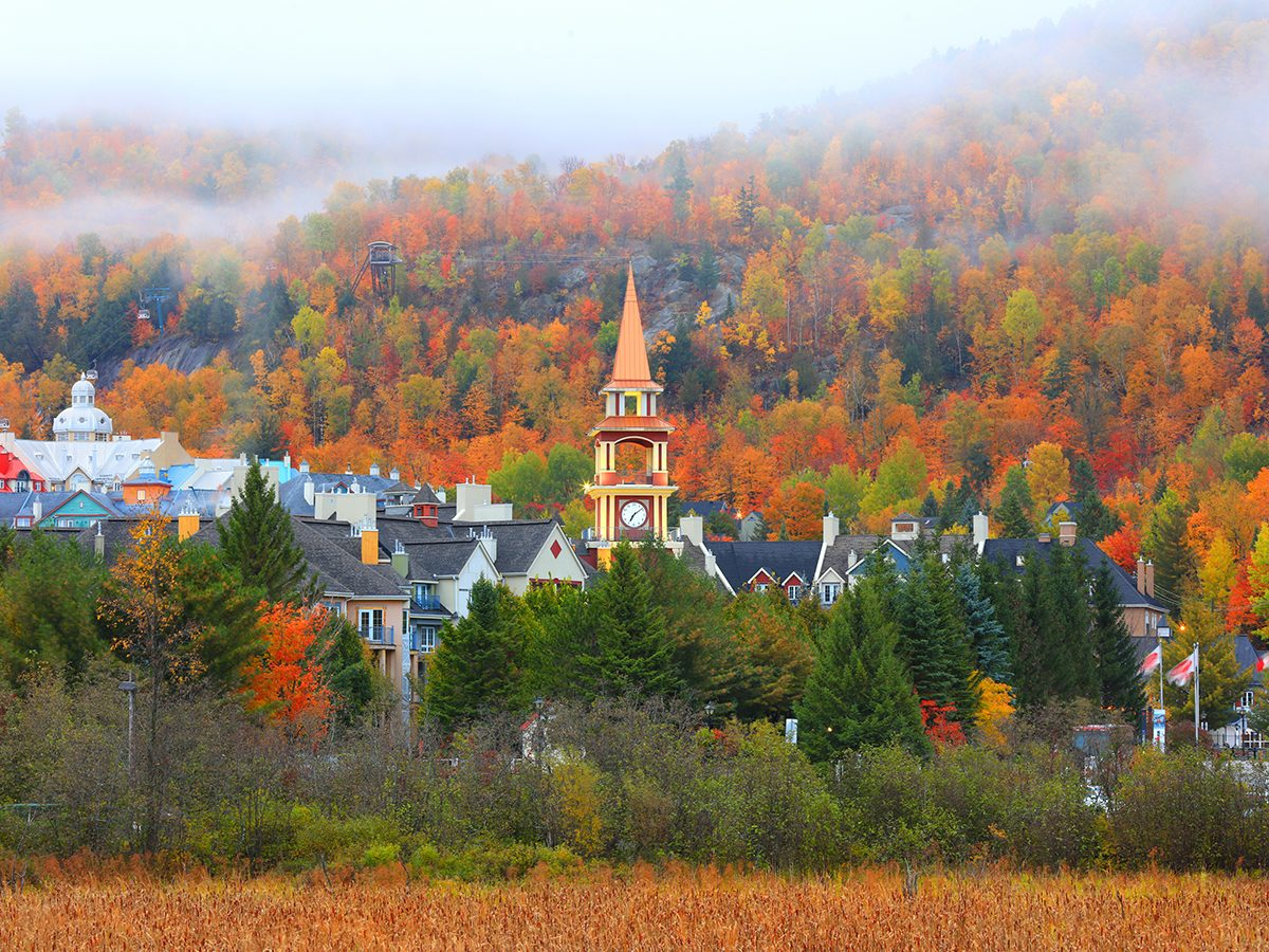 Fall colours in Mont Tremblant Quebec