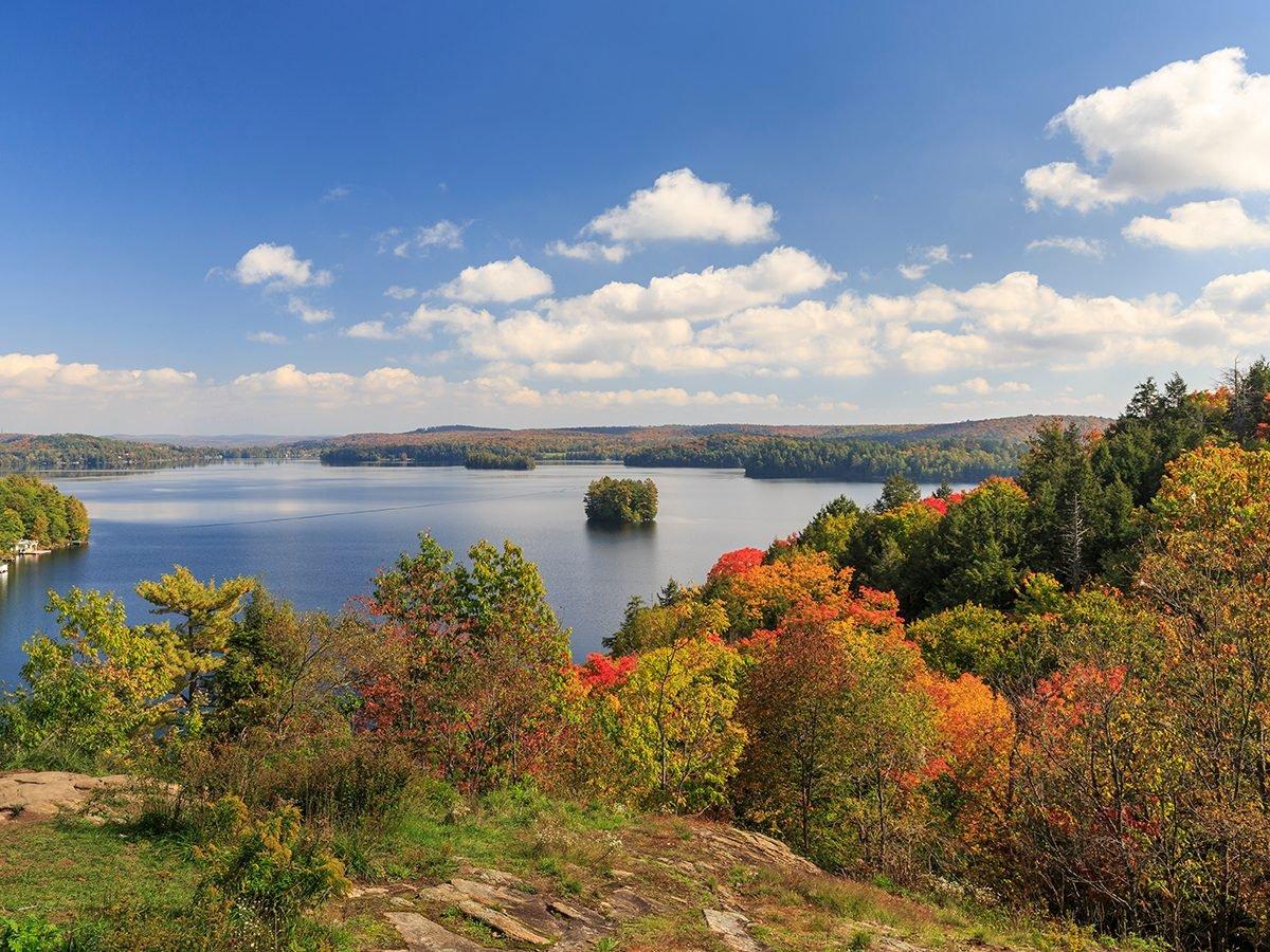 Fall colours in Muskoka Region - Fairy Lake, Huntsville, Ontario