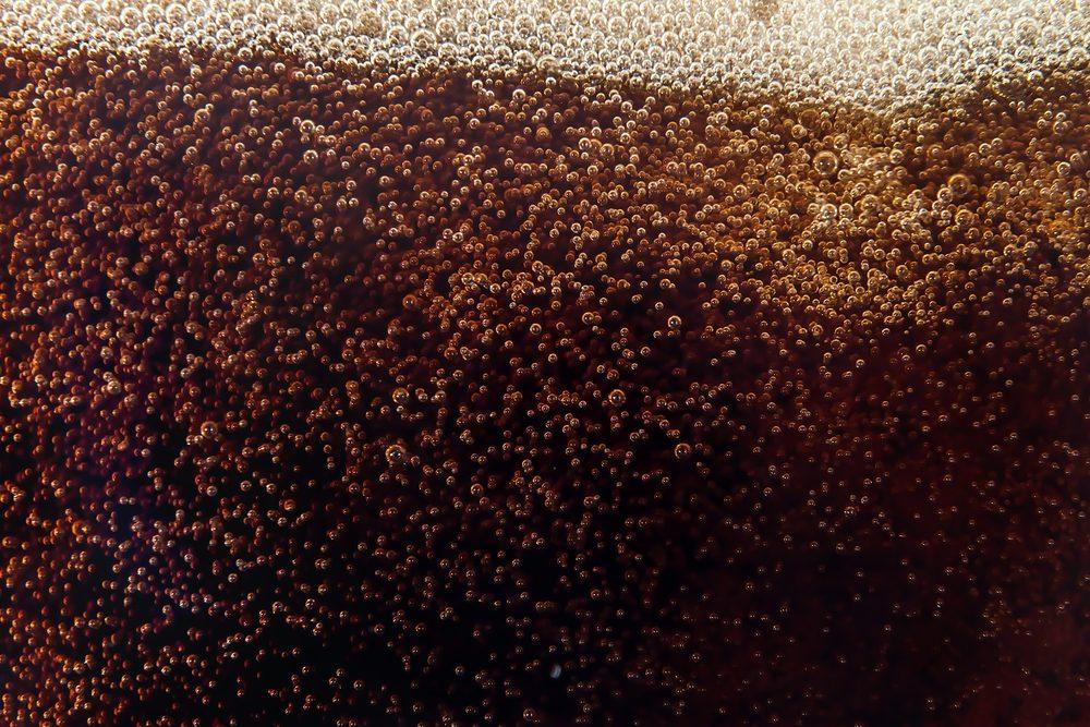 Close-up of Coca-Cola