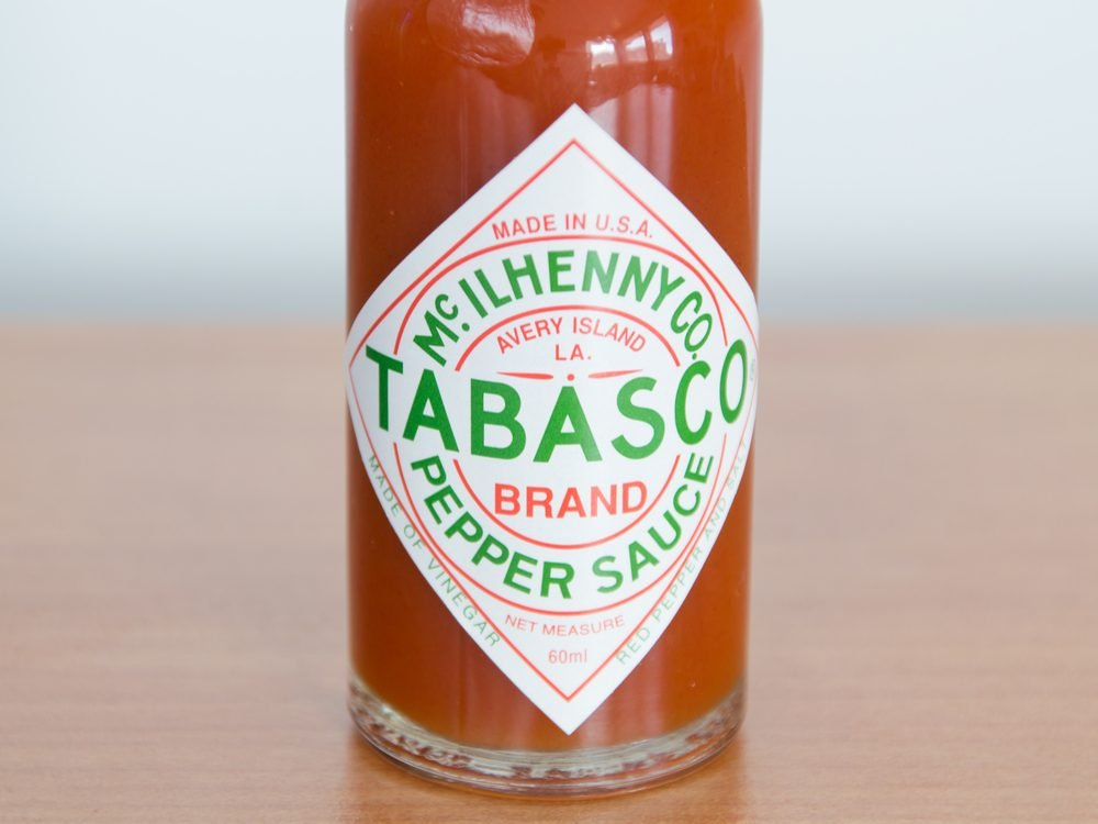 Tabasco hot sauce
