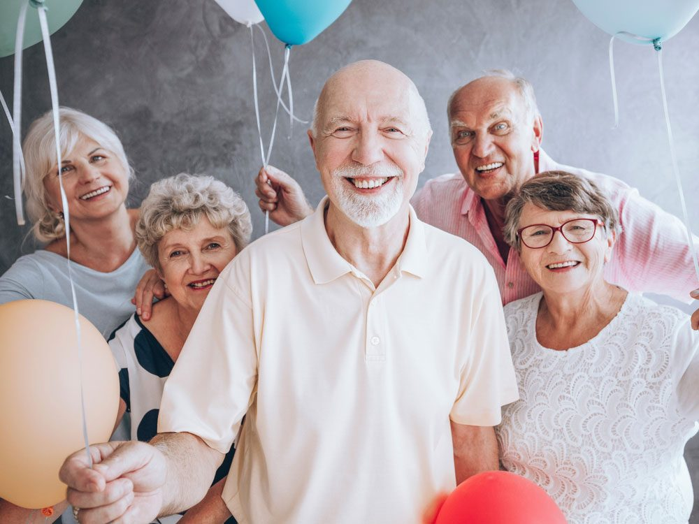 Elderly birthday party