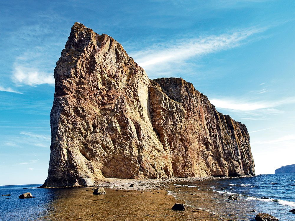 Perce Rock in the Gaspe Peninsula
