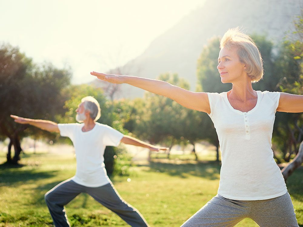 Getting active improves your balance