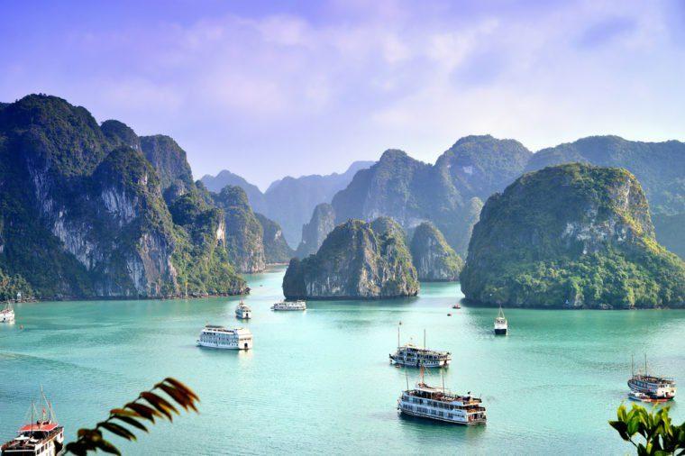 Karst landforms in the sea, the world natural heritage - halong bay