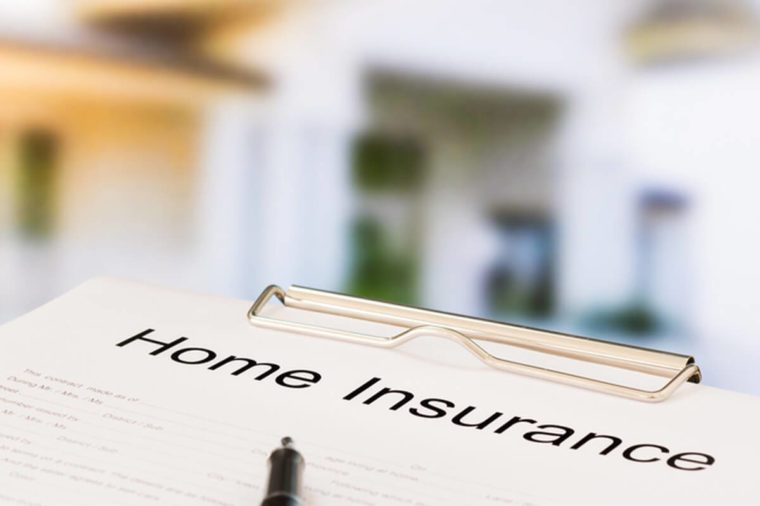 Home insurance document