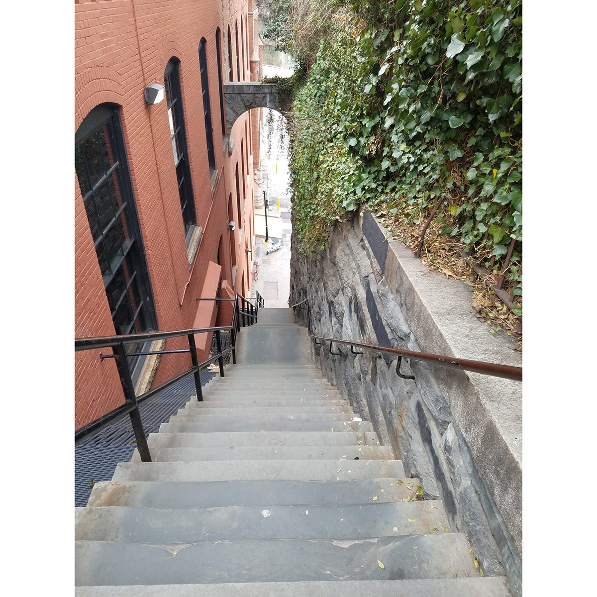 Horror movie locations - The Exorcist steps in Washington, DC