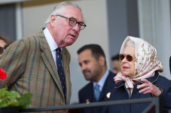 Queen Elizabeth II with Lord Samuel Vestey