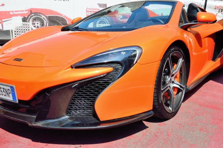 MARANELLO ITALY JUNE 25, 2017 - McLaren 650S Spider supercar.