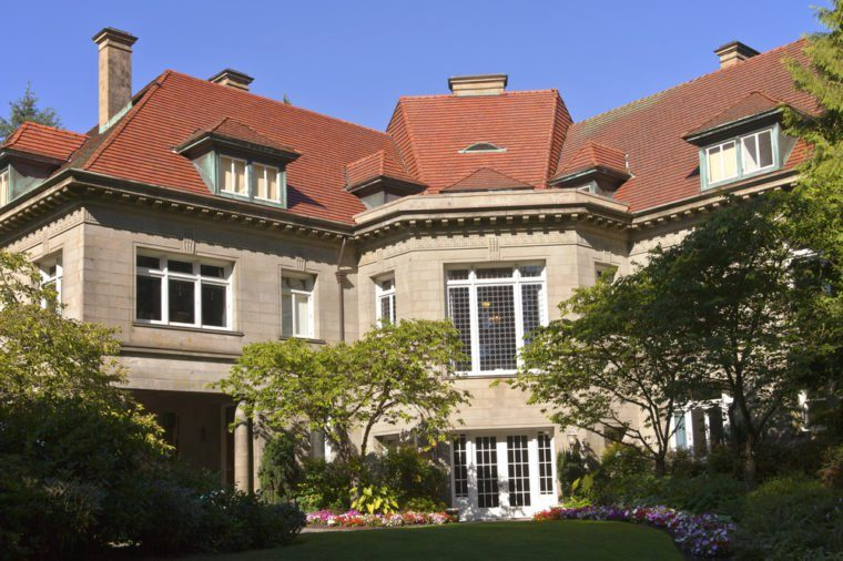 Pittock Mansion a historical landmark in Portland Oregon.
