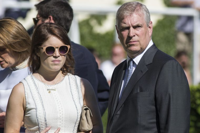 Prince Andrew and his daughter Princess Eugenie