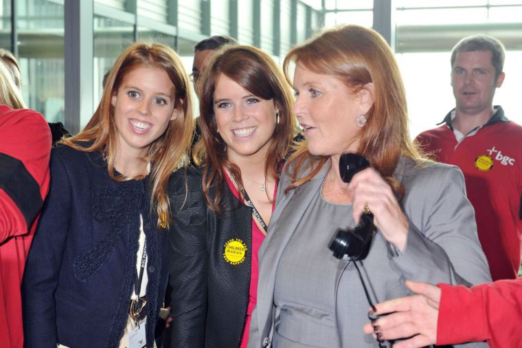 Princess Eugenie with her sister and Sarah Ferguson