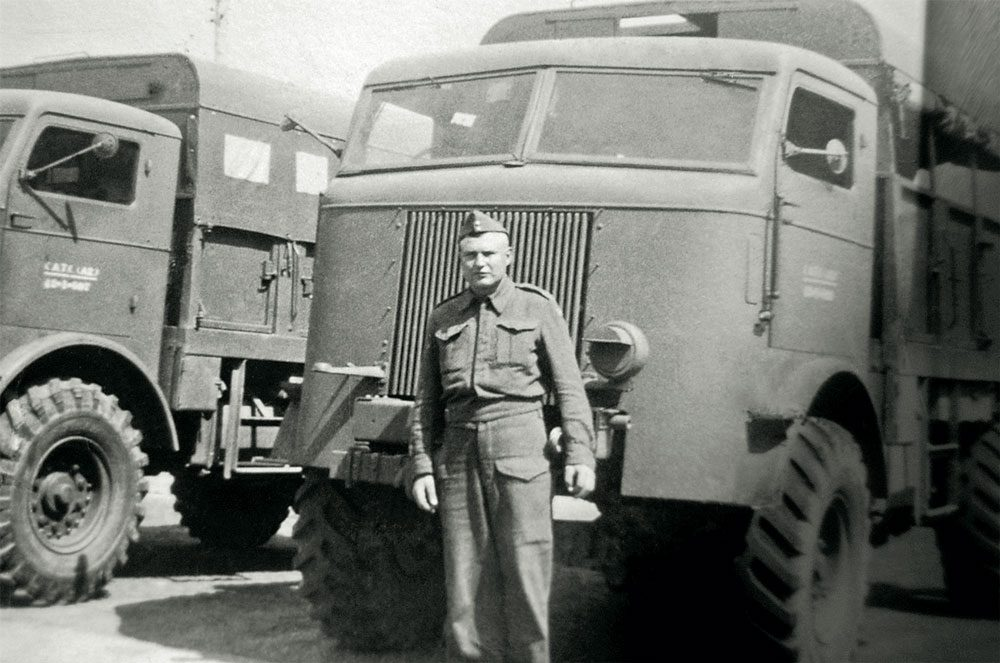 Frank's dad, Joseph, during wartime