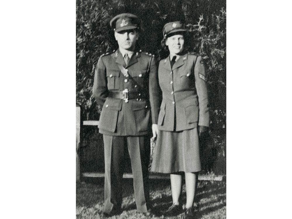 Jean's parents, Ken and Mary, in uniform