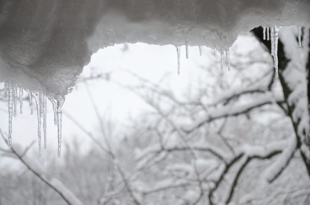 Snow and icicles