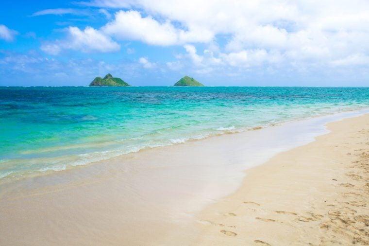 Lanikai beach in Hawaii