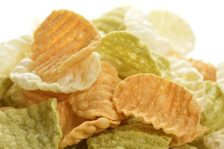 Healthy Vegetable Chips ,Close Up