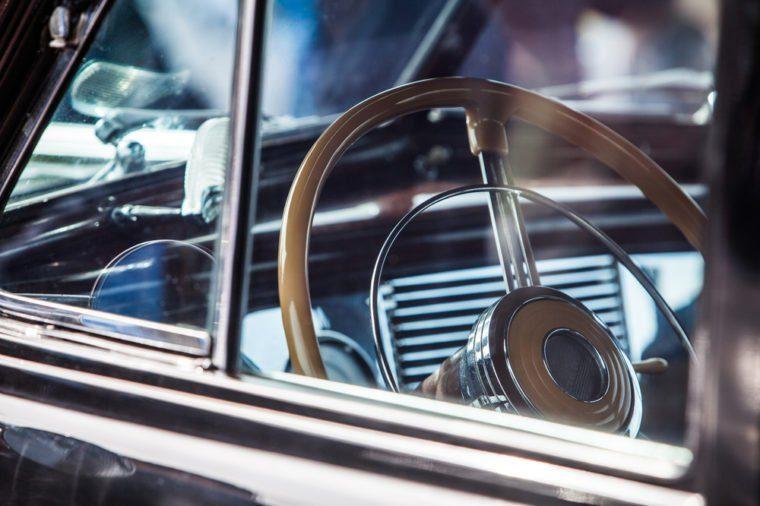 beautiful vintage car steering wheel
