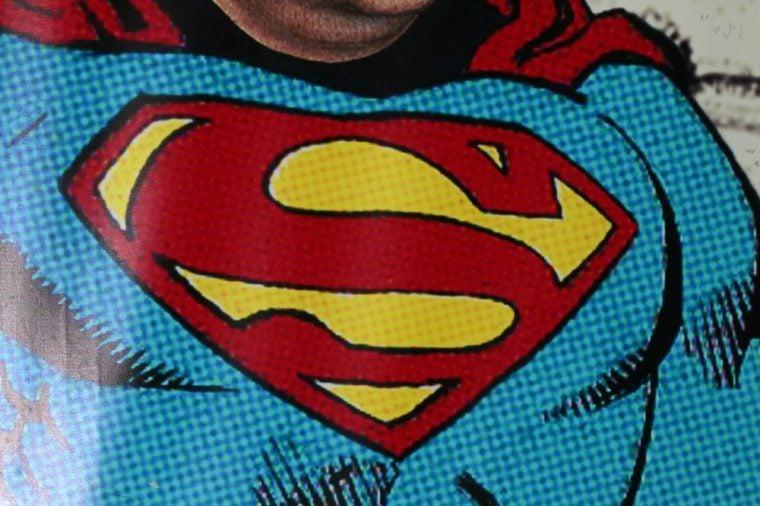 "the logo of the superhero comic figure ""Superman""."