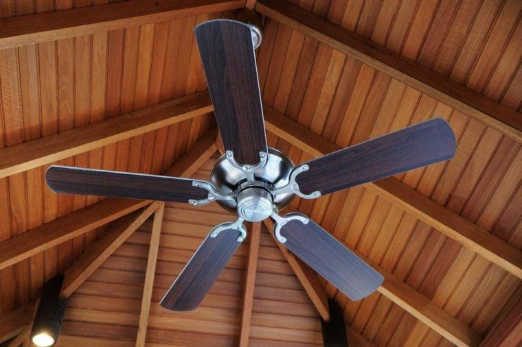 Ceiling fan, indoors