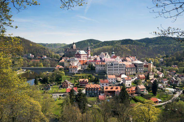 Castle Loket in the Sokolov District, in the Karlovy Vary region, Czech Republic