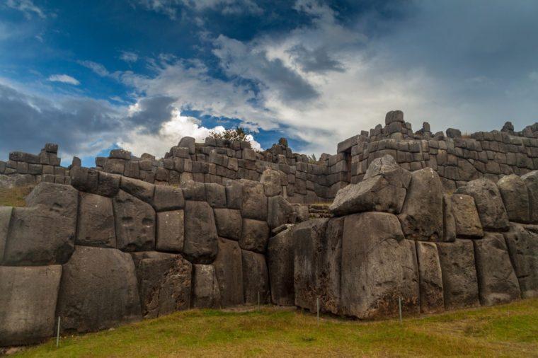 Inca's ruins of Sacsaywaman near Cuzco, Peru.