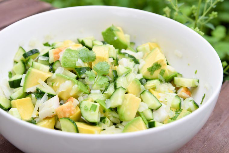 avocado salad with coriander