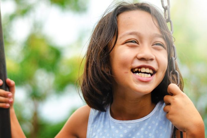 Asian kids happiness and smile