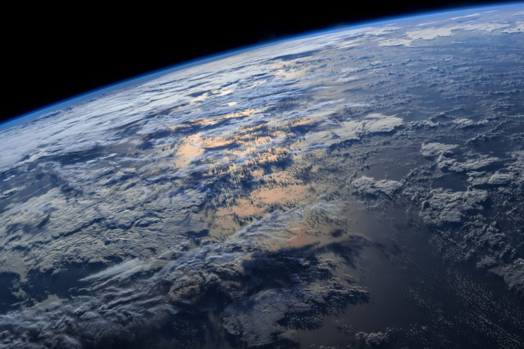"Earth from space with dramatic view. ""The elements of this image furnished by NASA"""